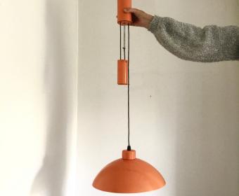 Orange pendant vintage light