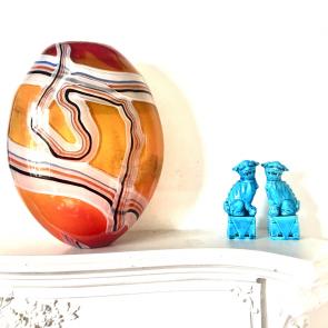Rediscova Studio glass multicoloured vase