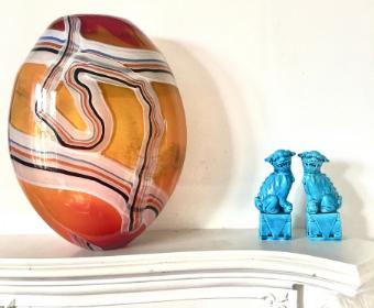 Handmade studio glassware