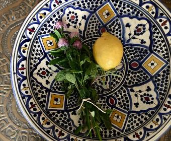 Moroccan multicoloured plate