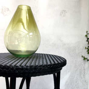 yellow teardrop recycled glass vase