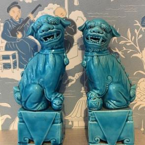 rediscova turquoise Foo dogs