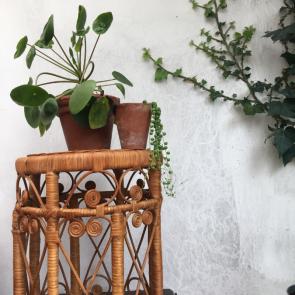 rediscova vintage bamboo & rattan stool