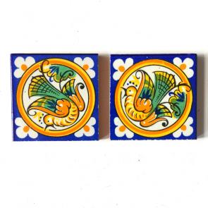 2 small Spanish tiles