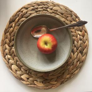 rediscova sage green Artisan dessert bowl