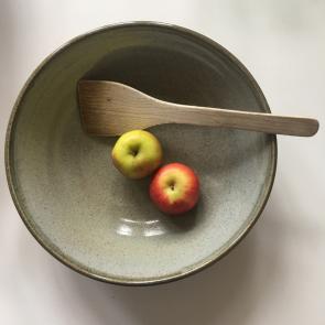 rediscova sage green serving bowl