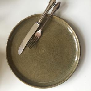 rediscova sage green artisan plate