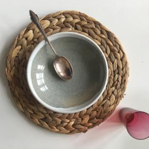 rediscova winter white Artisan dessert bowl