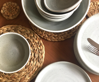 Rediscova winter white tableware range