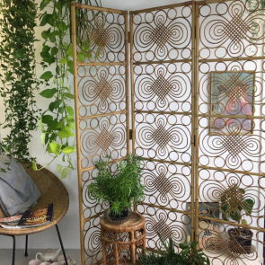 Mid century bamboo room divider/ screen