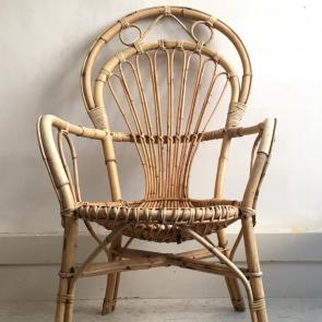 rediscova vintage highbacked bamboo armchair