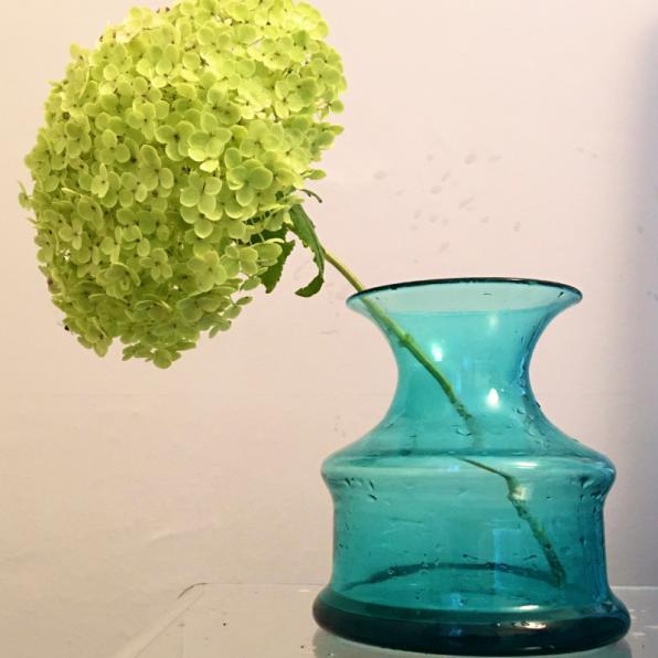 rediscova vintage aquamarine shaped vase
