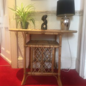 bamboo table for 2 / console table